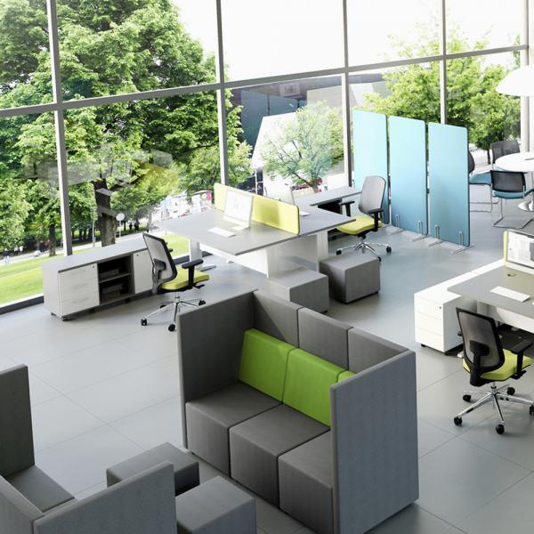 Akoestische zetel lounge burocentral kantoormeubelen for Lounge zetel